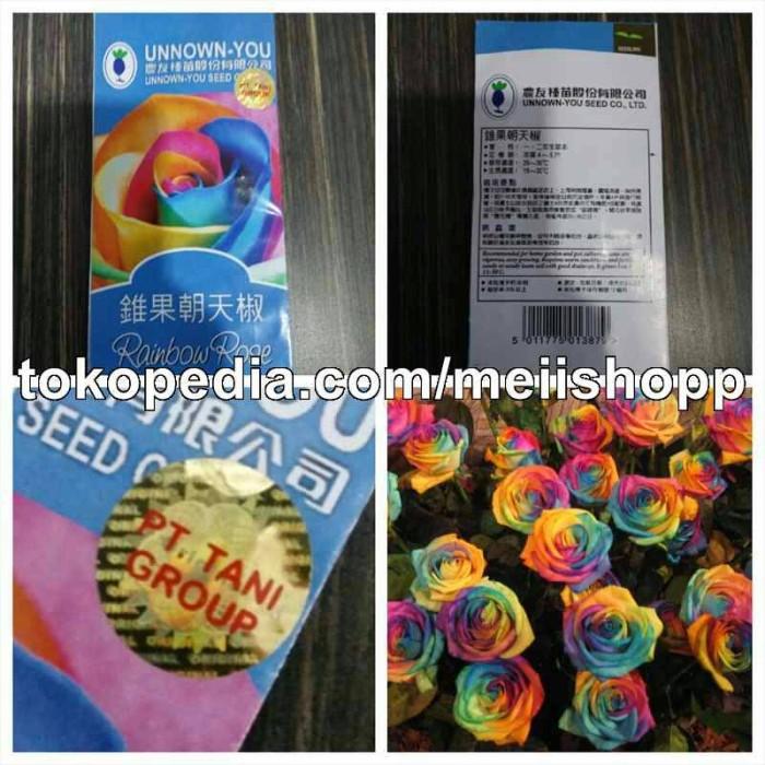 harga Bibit/benih/bunga mawar pelangi/rainbow rose Tokopedia.com