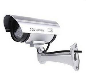 harga Cctv dummy palsu silver lengkap dengan kabel tenaga baterai Tokopedia.com