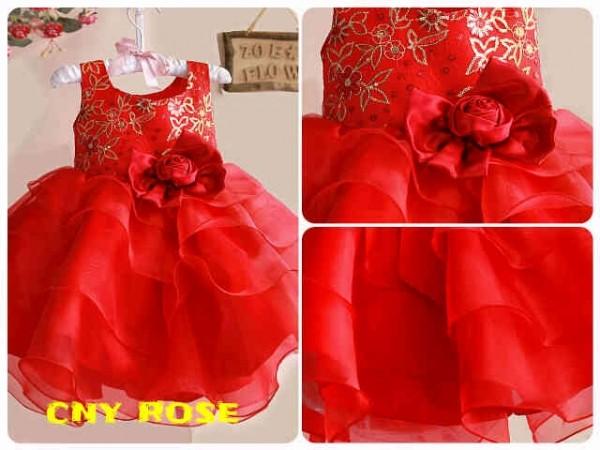 harga Dress cny imlek brand zoe red rose Tokopedia.com