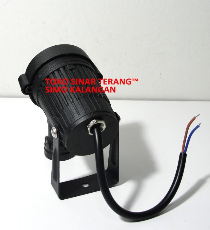 Lampu SOROT Taman LED KUNING 5W Spotlight BULAT 5x1 Watt OUTDOOR Murah