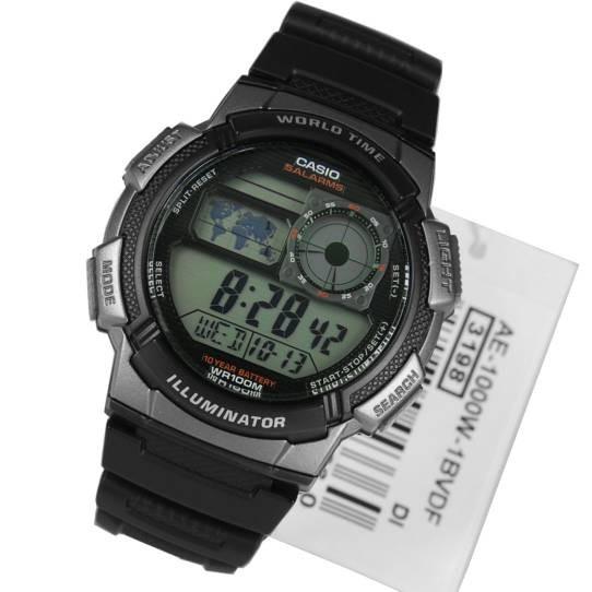 Casio World Time AE2000W 1AVDF Digital Jam Tangan Pria Rubber Strap Hitam Silver. Source .