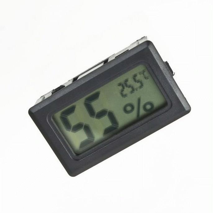 Hygrometer-Thermometer Digital- Black, Alat ukur kelembaban-suhu udara