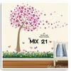 jual wall sticker dinding mix motif wall stiker rumput pohon sakura