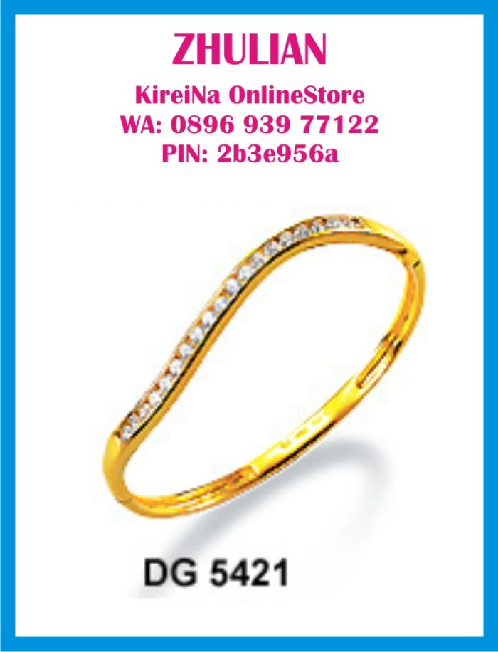 Jual Perhiasan Lapis Emas Zhulian Gelang Tangan Bangles Dg 5421