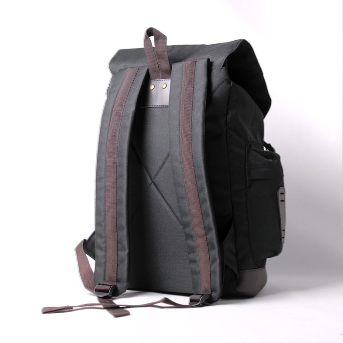 Tas Ransel Visval Rave Black Tas Laptop Backpack Selempang