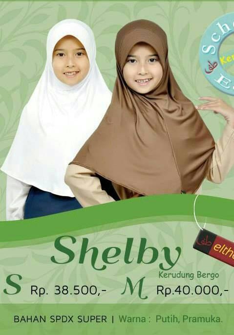 Jual Kerudung Jilbab Bergo Elthof Shelby M Edisi Sekolah Azas