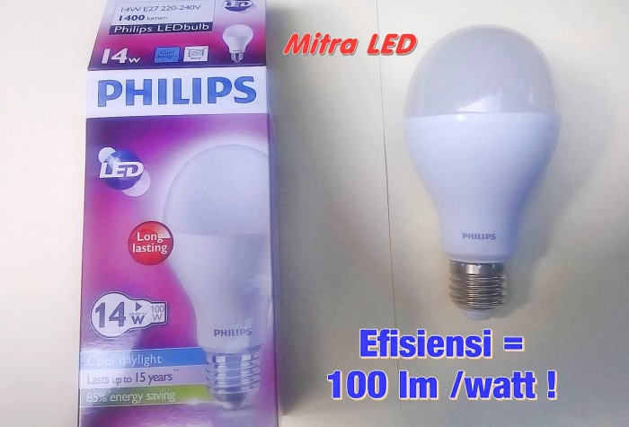 Lampu LED Philips 14 Watt