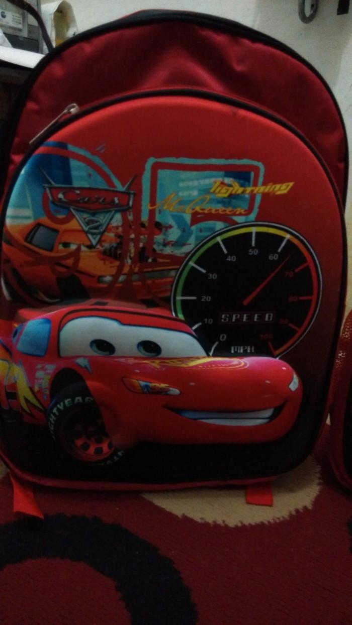Jual Tas Anak Sekolah Cars Atau Mc Queen Model 3d Gambar Timbul Ransel
