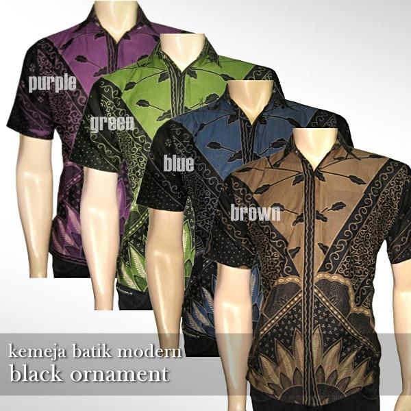 Foto Produk Kemeja Batik Modern | BLACK ORNAMENT - BROWN | KMJ-498 dari Rajapadmi Batik