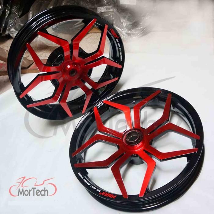 harga Velg racing lebar vario palang 5 spider power merah hitam Tokopedia.com