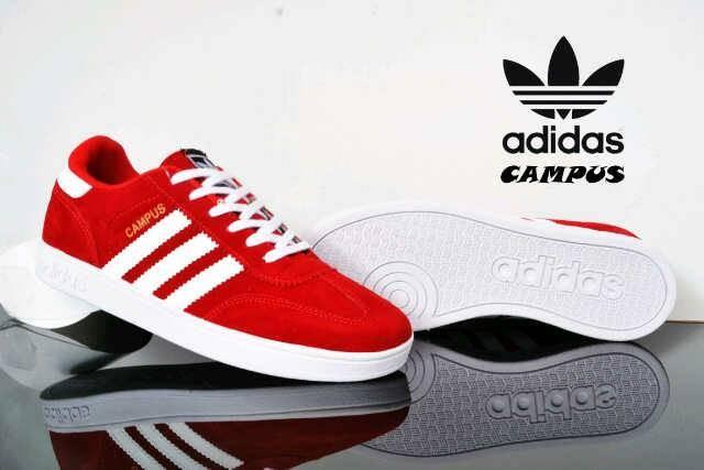 harga Sepatu adidas campus merah keren murah sekolah kerja kuliah kets Tokopedia.com
