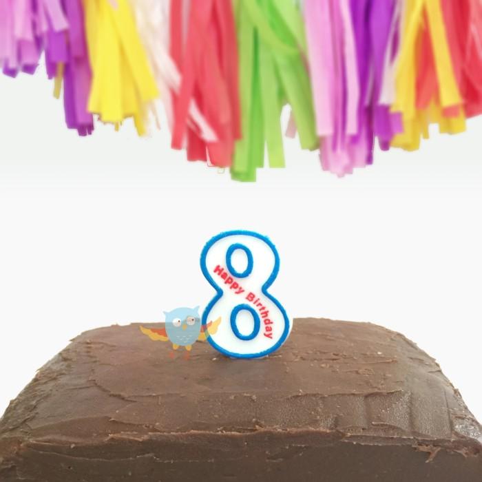 Lilin Angka Birthday (Biru) / Lilin Ulang Tahun