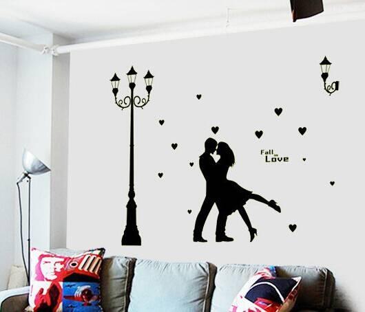 jual glow abq9626-fall in love wall sticker|stiker-wallsticker