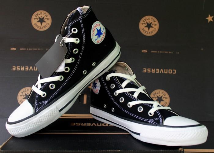 Jual Sepatu Converse All Star Black panjang (sepatu sekolah 3ccb19935d