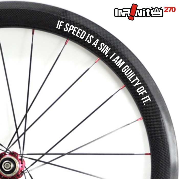 harga Sticker sepeda rim wheel 700c teks speed sin guilty of it 4x/wwsq-024 Tokopedia.com