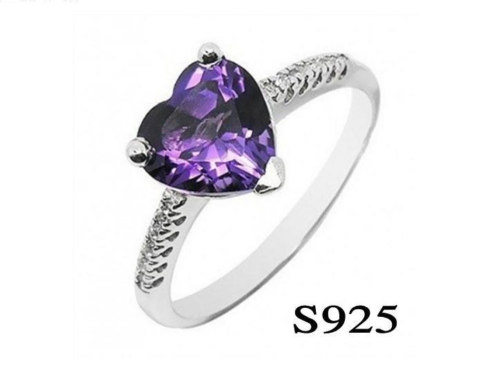 harga Cincin(wanita) natural s925 purple zircon model love Tokopedia.com