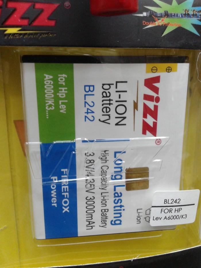harga Baterai Vizz Double Power Bl242 Lenovo K3 A6000 3000mah Tokopedia.com