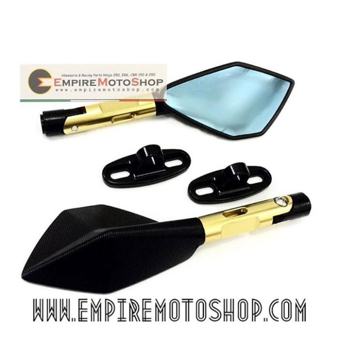 harga Spion tomok2 black universal + bracket fairing Tokopedia.com
