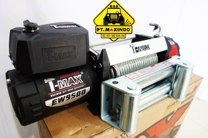 harga T-max high speed electric winch hew-9500 gear ratio 160:1 Tokopedia.com
