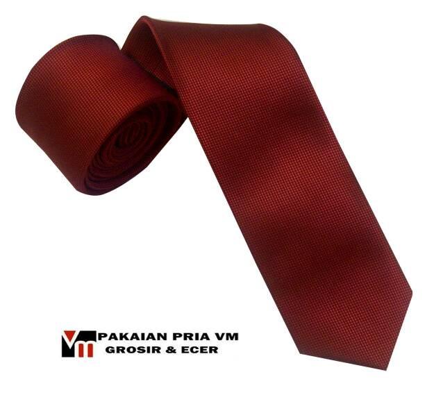 Dasi Slim Merah Polos Corak Kotak jual dasi slim merah polos corak kotak vanmarvell vm