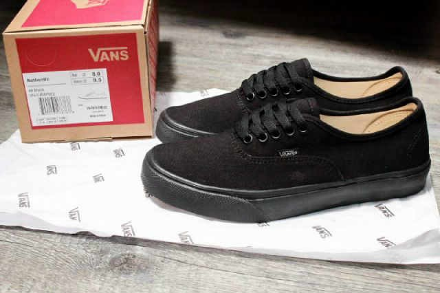 jual vans all black