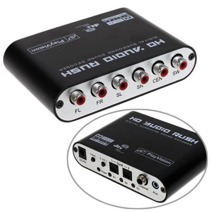 harga Dts / dolby ac3 decoder to active speaker 5.1 converter - black Tokopedia.com