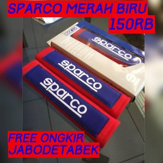 COVER SEAT BELT SPARCO MERAH BIRU
