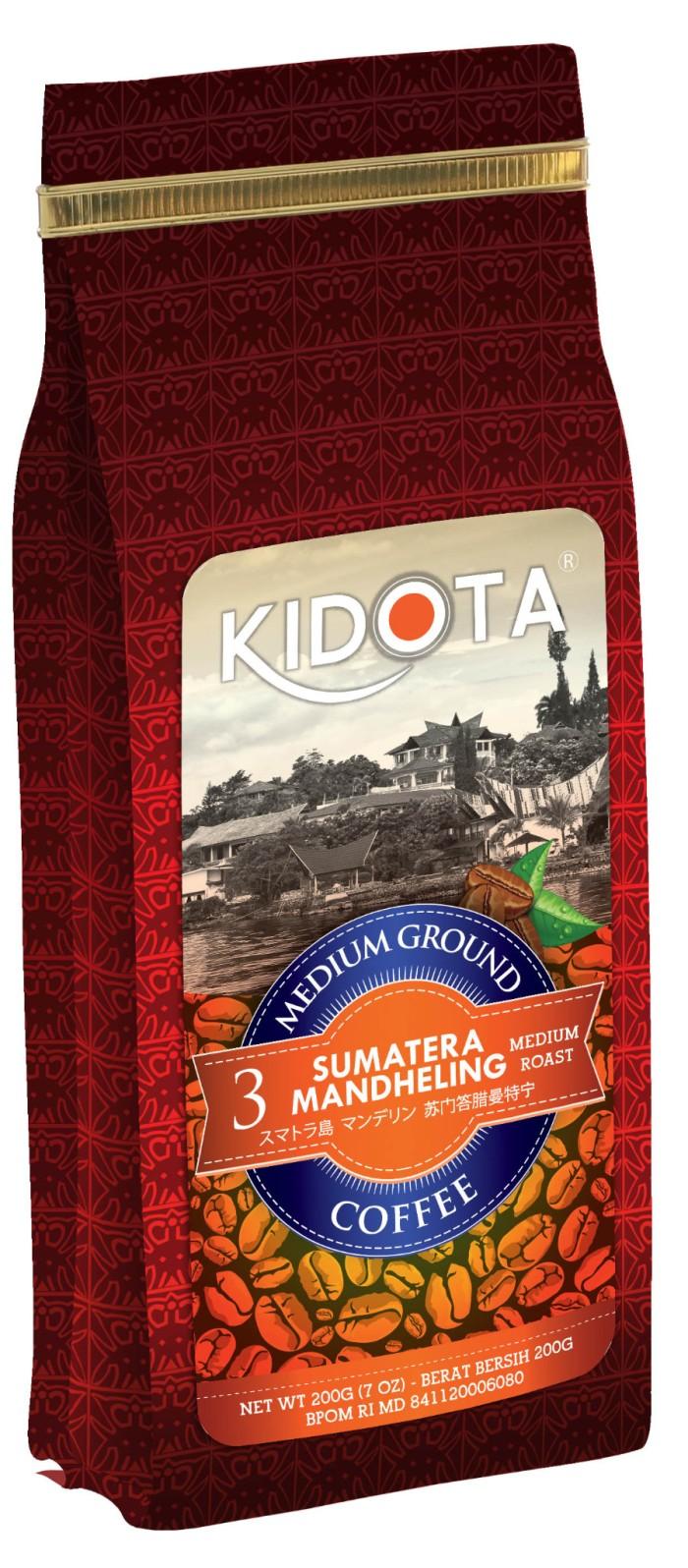 Kopi kidota sumatera mandheling 200 gram medium ground (kasar)