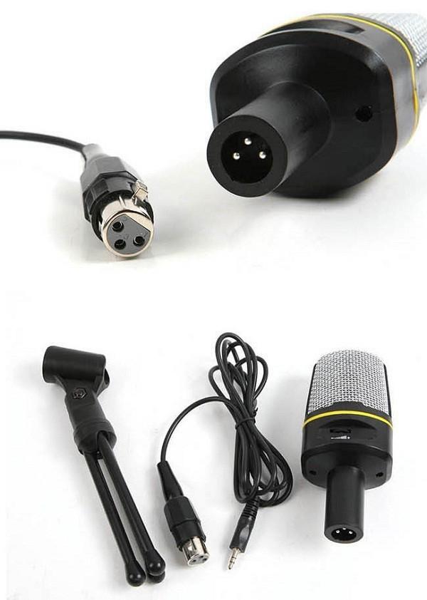 harga Audio port mikrofon chat singing karaoke dekstop + tripod + kabel xlr Tokopedia.com