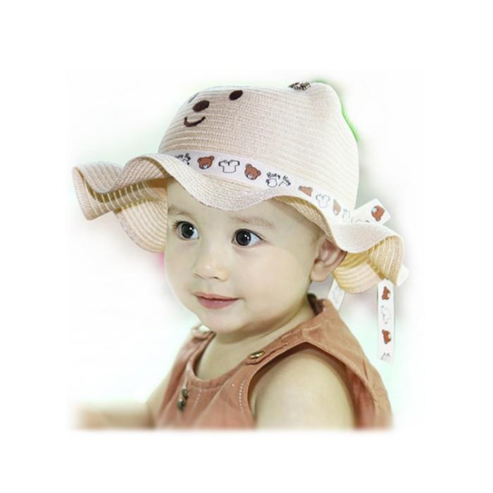 Jual Baby Girl s Floppy Hat   Bear   Topi Pantai Anak Cewe - Anakkin ... c27a232f23