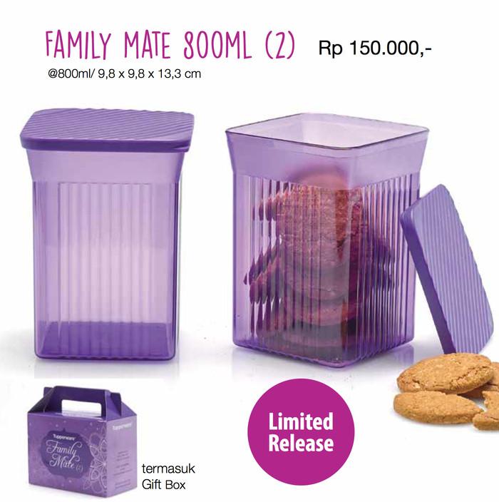 Jual Family Mate Tupperware Toples Kristal Kaca Ungu Wadah Cemilan