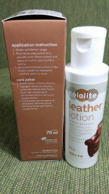 Source · Cololite Leather Lotion .