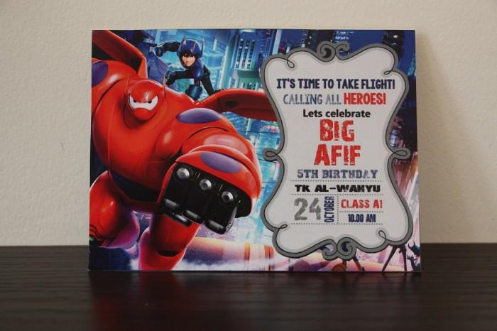 Jual Undangan Big Hero 6 Baymax Ulang Tahun Birthday Invitation