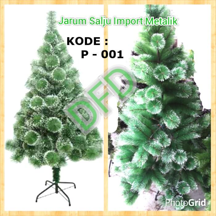harga New !! pohon natal jarum salju metalik import  15 meter kode : p-001 Tokopedia.com
