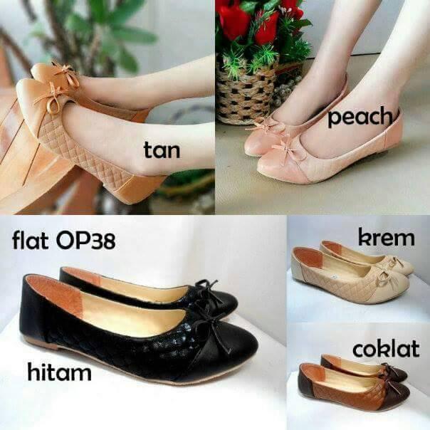 3ca97e02911d Jual Sepatu sandal cewek model Flat shoes Ribbon Opp38   Flat Sepatu ...