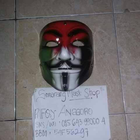 Jual Topeng Anonymous Vendetta Palestina Semarang Mask Shop