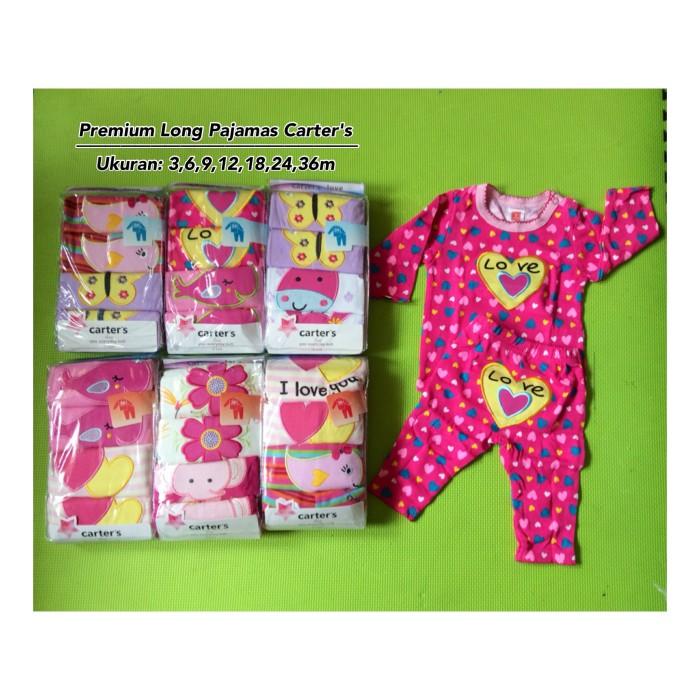 Premium piyama panjang carter's (2stel/pack) - girl