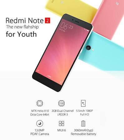 harga Xiaomi redminote 2 octacore 4g dualsim int16 ram 2gb  / redmi note 2 Tokopedia.com