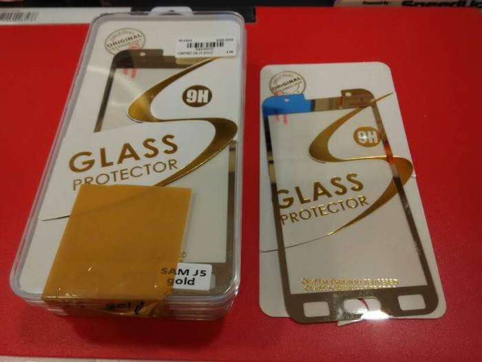 Tempered glass samsung galaxy j5 glass protector gold