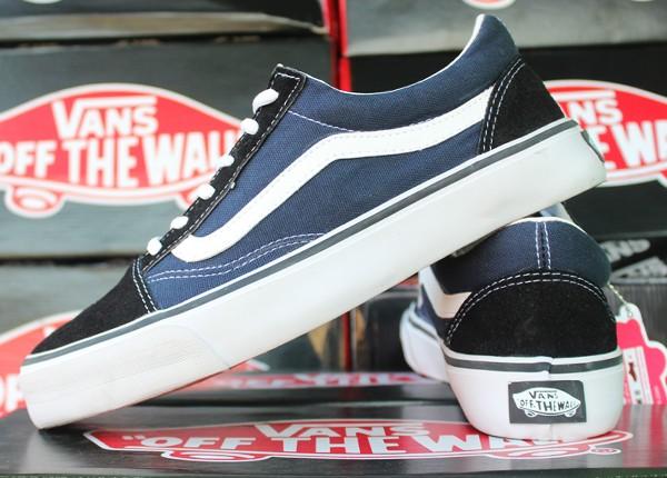Sepatu Vans Old Skool Navy Hitam (sekolah/main/ket/casual/murah/vans)