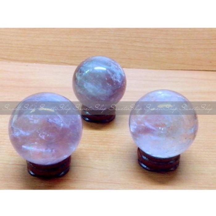 harga Amethyst gemstone crystal ball/ bola kristal kecubung ungu Tokopedia.com
