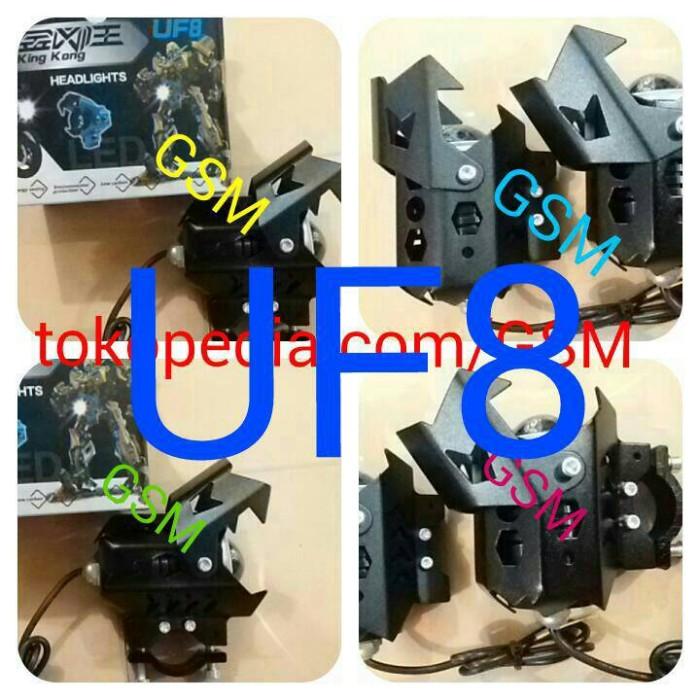 Lampu Tembak LED Transformer U8 Sorot Angel Eyes DE UF8 KINGKONG