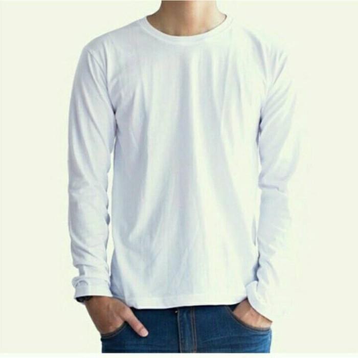 Jual Kaos Polos Putih Kaos Polos Sablon Kaos Lengan Panjang Putih Kota Surakarta Akalili O Tokopedia