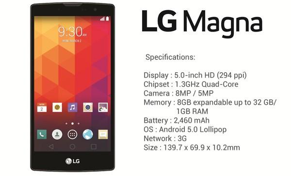 Handphone HP LG Magna H502F DualCore RAM 512MB Internal 4GB