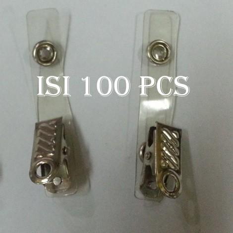 harga Gantungan jepit badge id card name tag isi 100 pcs jepitan Tokopedia.com
