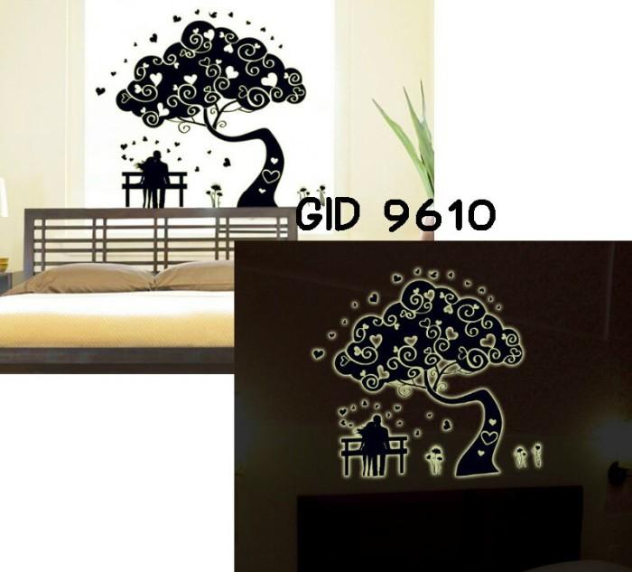 jual wall sticker glow in the dark-pohon romantis - gosfajstiker