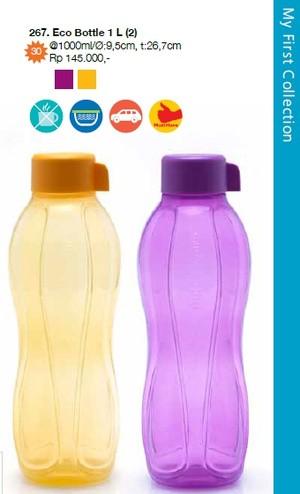 Eco Bottle 1L (1 set isi 2) Tupperware Promo Discount