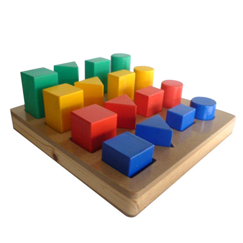 Foto Produk Geo Bangun Bertingkat, mainan edukatif edukasi anak kayu SNI ape TK dari Edukasi Toys