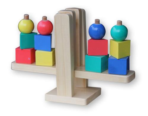 Foto Produk Timbangan Geometri, mainan edukatif edukasi anak SNI kayu, ape Paud TK dari Edukasi Toys