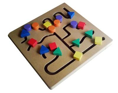 Foto Produk Maze Bentuk,mainan edukatif edukasi anak kayu SNI murah Ape tk Paud dari Edukasi Toys